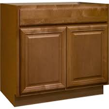 Hampton Bay Cambria Assembled 36x34.5x24 In. Sink Base Kitchen Cabinet In  Harvest