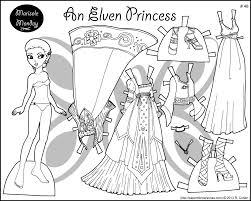 Small Picture Four Princess Coloring Pages to Print Dress