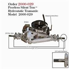 murray transaxle parts accessories peerless hydrostatic transaxle model 2000 029 murray snapper p n 7102770 new