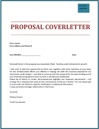Business Proposal Cover Page Proposal Cover Letter Scrumps
