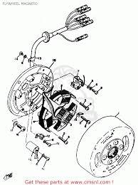 Yamaha dt2 1972 1973 usa flywheel mag o parts list partsfiche yamaha dt2 1972 1973 usa flywheel