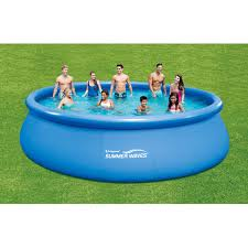 summer waves 18 x 48 quick set round above ground swimming pool with deluxe accessory set paylessdaily com