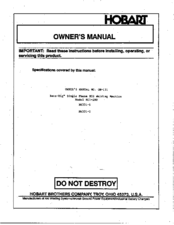 hobart beta mig 200 manuals Hobart Beta Mig LF Welder at Hobart Beta Mig 250 Wiring Diagram