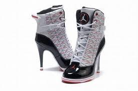 jordan heels. nike jordan 6rings white black red women heels 27772 r