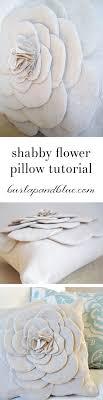 Shabby Flower Pillow Tutorial...easy pillow DIY!