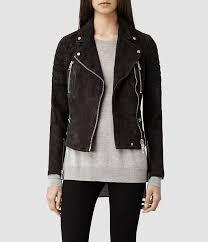black suede biker jackets allsaints huxley leather biker jacket