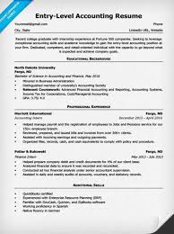 Entry Level Accountant Resume Free Resume Templates 2018
