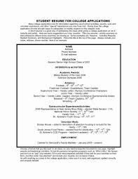 Resume For College Application College Application Resume Ex Stunning High School Resume For 10