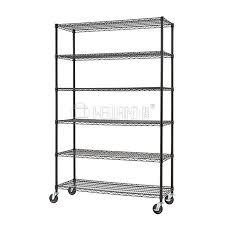 6 tier heavy duty metal wire rack storage shelving unit 1200 x 450 x 1800 prevnext