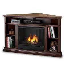 black corner gel fireplace real flame churchill corner ventless tv stand gel fireplace espresso