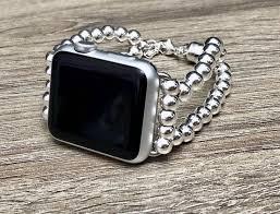 Designer 38mm Apple Watch Bands Sterling Silver Apple Watch Band 38mm 40mm 42mm 44mm Luxury