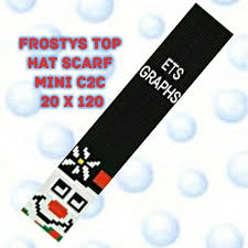 Frostys Top Hat Scarf Mini C2c Graph With Written Color Chart