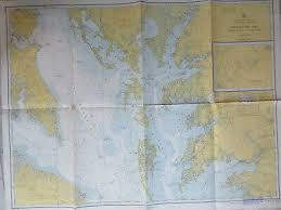 Vintage Nautical Chart Chesapeake Bay Severn Magothy