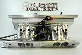induction solutions touts benefits of single stage nitrous systems nitrous always looks great on a billet intake like this one from wilson manifolds increased cross section runners and larger plenums can take