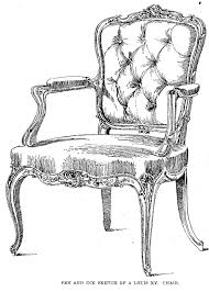 armchair drawing. interior - pen ink sketch of a louis xv chair this will really help to get inspired for my summer project! armchair drawing b