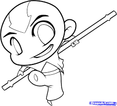 How To Draw Chibi Aang Step