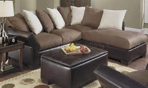 photo 3 of 4 contemporary vinyl leather mocha micro suede sectional marvelous brown and tan sectional couch nice