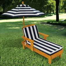 kidkraft outdoor chaise with umbrella and navy stripe fabric 105 kidkraft outdoor table furniture