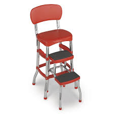 Cosco Home and Office Products 11120RED1E Retro Counter Chair / Step Stool  | The Mine