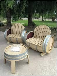 wine barrel furniture plans. Wine Barrel Adirondack Chair Plans Image Of Furniture Idea