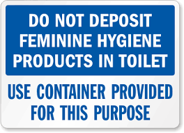 just bathroom signs. Just Bathroom Signs S 7358 Laminated Vinyl Feminine Hygiene