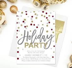 Polka Dot Holiday Party Invitation | Printable Holiday Party ...