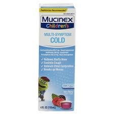 4 oz kids cough cold flu