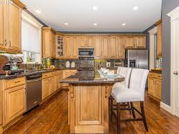 Baltic Brown Granite Kitchen Kitchen With Complex Granite Counters Breakfast Bar In Clackamas