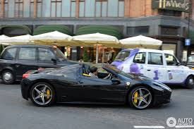 ferrari 458 spider black interior. ferrari 458 spider black with yellow calipers and interior n