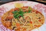 angel hair pasta with chorizo and mushrooms