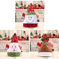 Amazon.com: LUCKSTAR Christmas Candy Jar Set of 3 - Food Storage Container  Christmas Elk & Santa & Snowman Clear Plastic Candy Jar Gift Bottle Holder  Xmas ...