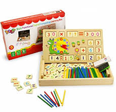 Wooden Math Games Amazon BBLIKE 100pcs Counting Games Toy Wood Creative Puzzle 27