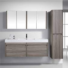 China Floating Wood Bathroom Vanity With Mirror Cabinet And Side Cabinets China Black Bathroom Vanity Corner Bathroom Cabinet