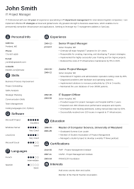 Combined Resume Templates 20 Resume Templates Download Create Your Resume In 5 Minutes