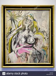 woman by willem de kooning 1948 smithsonian national gallery of art washington dc usa