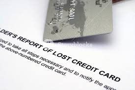 Report Of Lost Credit Card Royalty Free Stock Image
