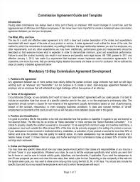 Sales Agent Contract Agency Contract With Advertising Sales Commission Contract Template 24