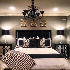 this is a great option for the guest room i like the drama of the black headboard and the color schemeeasy to change out accent color depending upon the bedroom ideas for black furniture