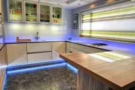 under countertop lighting. Stylish Fitted Kitchen With Under Counter Lights And LED Strip Lighting Countertop