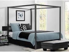 four poster bedroom furniture. Four Poster Bed Frame Canopy Queen Size Modern Platform Bedroom Furniture Black