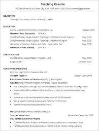 Resume Format For Teaching Jobs Resume Format For Freshers In