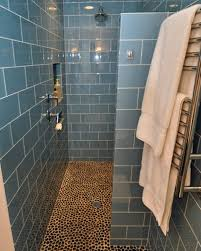 shower designs without doors with small patterned floor tiles modern f l m s