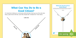Y Chart Diagram What Can You Do To Be A Good Citizen Y Chart Worksheet