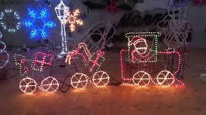 Christmas Outdoor Rope Light 3d Train Christmas Lighting Show Display Santa Train Christmas Rope
