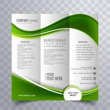Green Brochure Template Green Wavy Business Brochure Template Vector Free Download