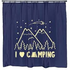 camping shower curtain i love camping shower curtain t shirts outdoor camping shower curtain