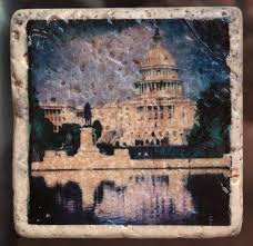 a stunning set of four 4x4 glass coasters or wall art taken in washington dc