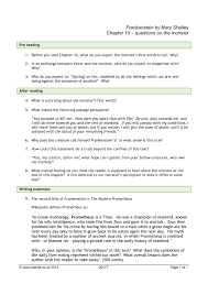 excellent ideas for creating frankenstein essay prompts consider your own reaction to this charge and write an essay in which you construct a solid argument that conveys your position to the reader