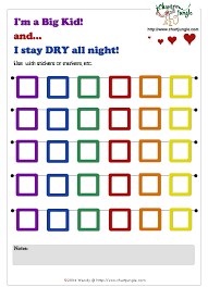 Printable Stay Dry At Overnight Incentive Chart Toddler