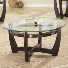 cool round glass coffee table sets jofranmarlonwengeround3piececoffeetablesetm